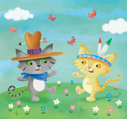 cowboy and indian kitties