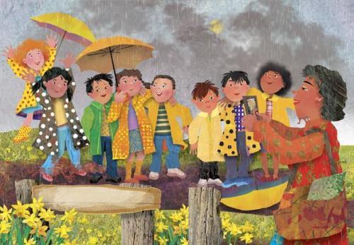 rain and umbrellas