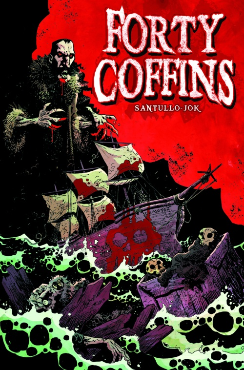 Forty Coffins cover inks color layered tiff