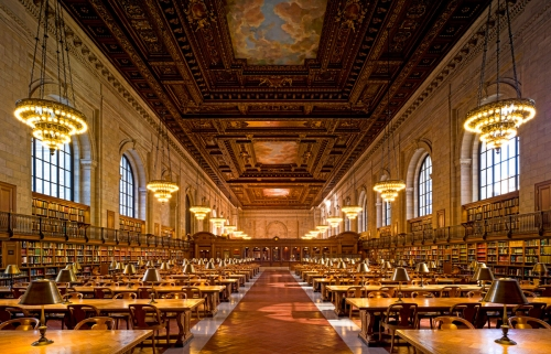 New York Public Library, Main Reading Room, 5th Avenue, Manhattan, New York City