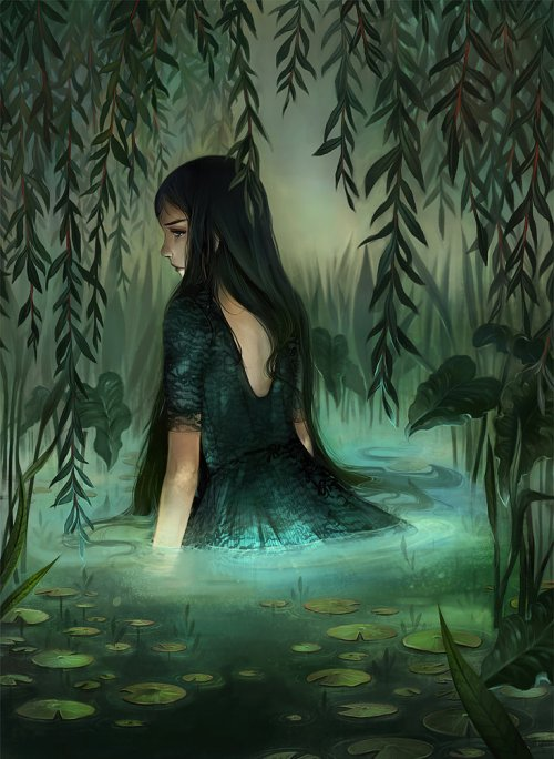 girl-in-pond