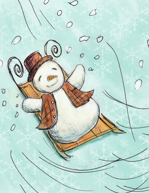 snowman-sled-doodle