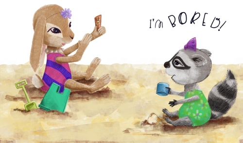 tkls-2-katie_erickson_racoon-and-bunny-at-the-beach-artspreadsjoy