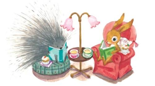 annie-silvestro-interior-art-bunny-and-porcupine