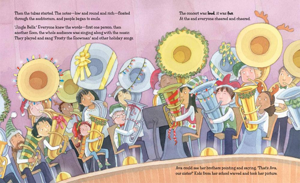 Tuba Christmas.Book Giveaway A Tuba Christmas By Helen Wilbur